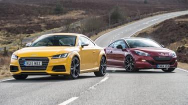 Audi TTs Vs. Peugoet RCZ