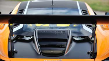 McLaren 12C Can-Am engine bay rear wing