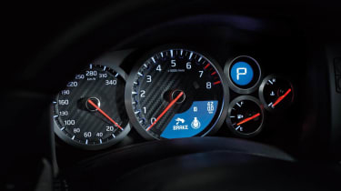 Nissan GT-R 2014 model year dials speedo