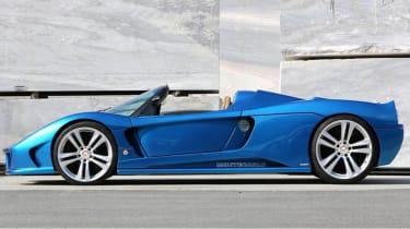 Montecarlo Rascasse supercar blue side profile