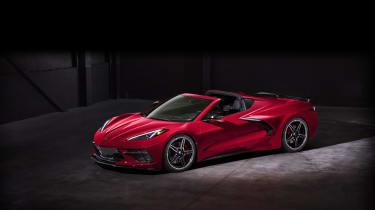 2020 Chevrolet Corvette C8 front three quarters top 2