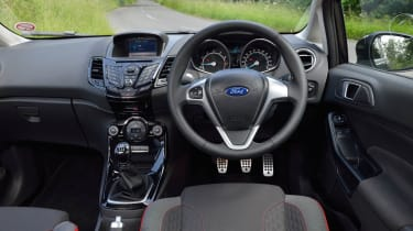 2013 Ford Fiesta 1.0 Ecoboost Zetec S interior dashboard steering wheel