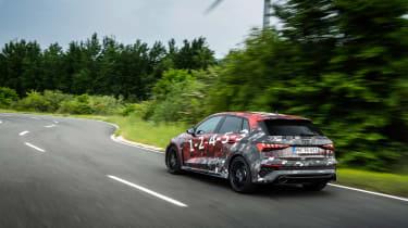 Audi RS3 mule 2020 SB – rear4