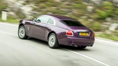 Rolls-Royce Wraith purple rear