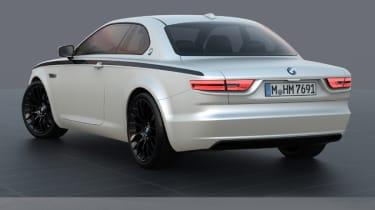 BMW CS Vintage Concept white rear