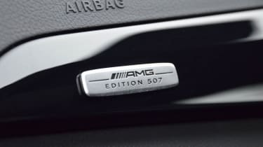 Mercedes C63 AMG Edition 507 badge plaque