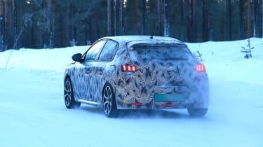 Peugeot 208 spied - rear