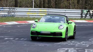 Porsche 911 Targa spy - front