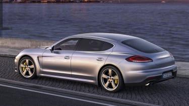 New Porsche Panamera Turbo rear silver