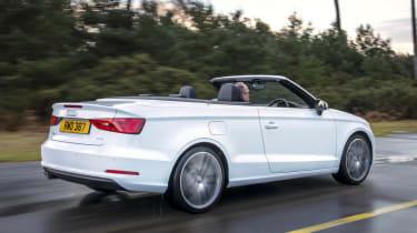 Audi A3 Cabriolet white rear