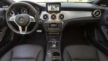 2013 Mercedes CLA45 AMG interior dashboard steering wheel