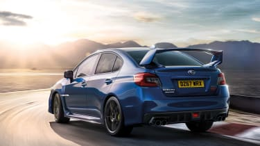 Subaru celebrates final WRX STI rear