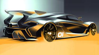 McLaren P1 GTR: New track car image released