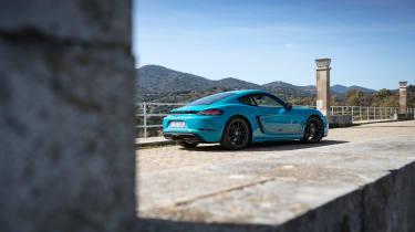 Porsche 718 Cayman T review - rear quarter