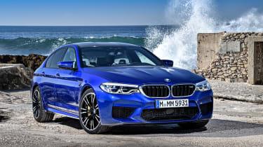 BMW M5 review - front quarter