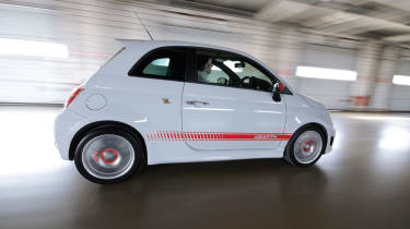 Abarth 500 driving