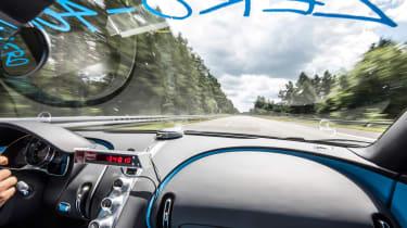 Bugatti Chiron '42' record breaker - dash