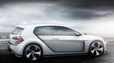 496bhp VW Golf Design Vision GTI side profile rear