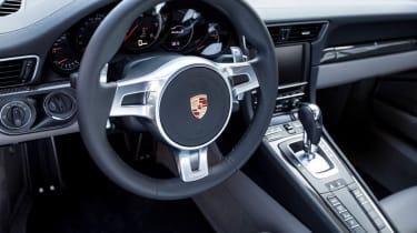 Porsche 911 Turbo S interior dashboard steering wheel PDK