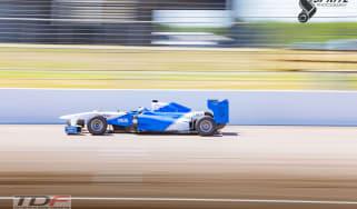 Billy Monger F1 test at Rockingham