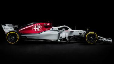 Sauber Alfa Romeo 2018 car - side