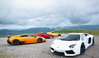 Lamborghini Aventador meets Countach, Diablo, Murcielago