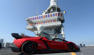 Lamborghini Veneno Roadster aircraft carrier
