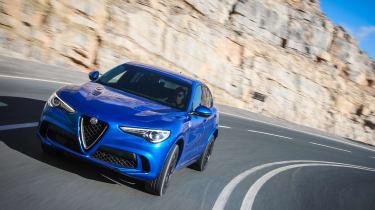 Alfa Romeo Stelvio QV drive - front