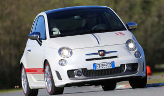 Abarth 595 50th Anniversary red and white front