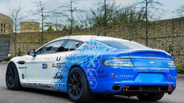 Aston Martin Rapide Hybrid Hydrogen white and blue