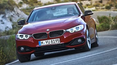 New BMW 4-series coupe red front