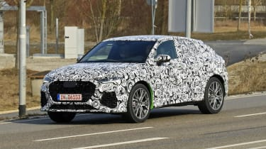 Audi RS Q3 Sportback spy - front quarter