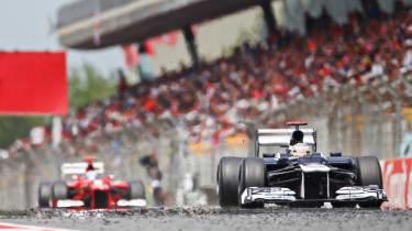 Maldonado winning at Catalunya
