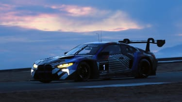 BMW M4 GT3 testing