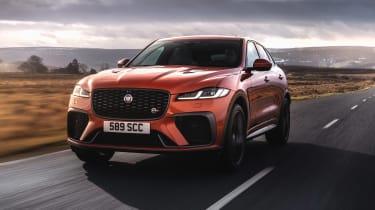 Jaguar F Pace SVR 2021 review - tracking
