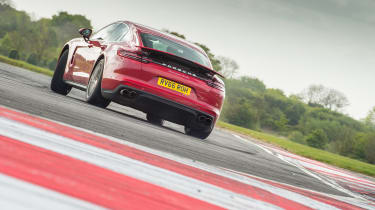 Porsche Panamera Turbo – rear - on track