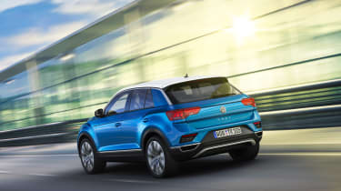 VW T-Roc - Blue rear dynamic