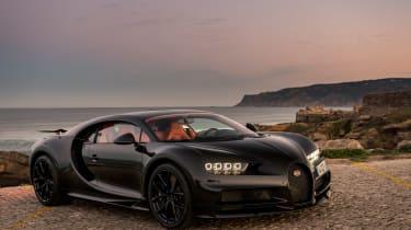 Bugatti Chiron black - front quarter