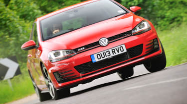 2013 VW Golf GTI mk7 red front