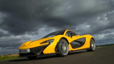 McLaren P1 yellow DS - quarter