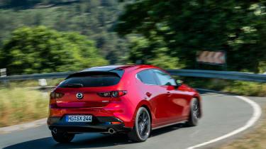 New Mazda 3 Skyactiv-X 2019 review rear corner