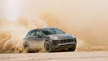 Porsche Macan SUV off roading