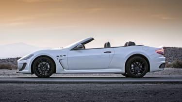 2013 Maserati GranCabrio MC white side profile