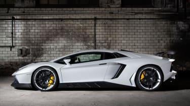 Novitec Lamborghini Aventador white side profile