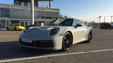Porsche 911 on location - crayon front quarter