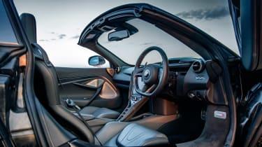 McLaren 720S Spider v Porsche 911 Turbo S Cab – McLaren interior