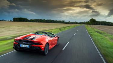 Lamborghini Huracán Evo Spyder – rear tracking high