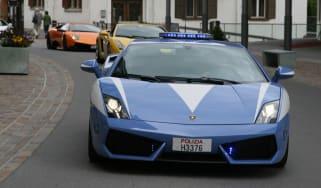 Lamborghini supercar road trip