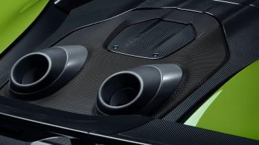 McLaren 600LT Spider exhausts