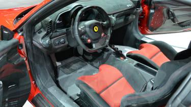 Ferrari 458 Speciale interior at Frankfurt Motor Show